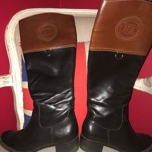 Black and Tan boots